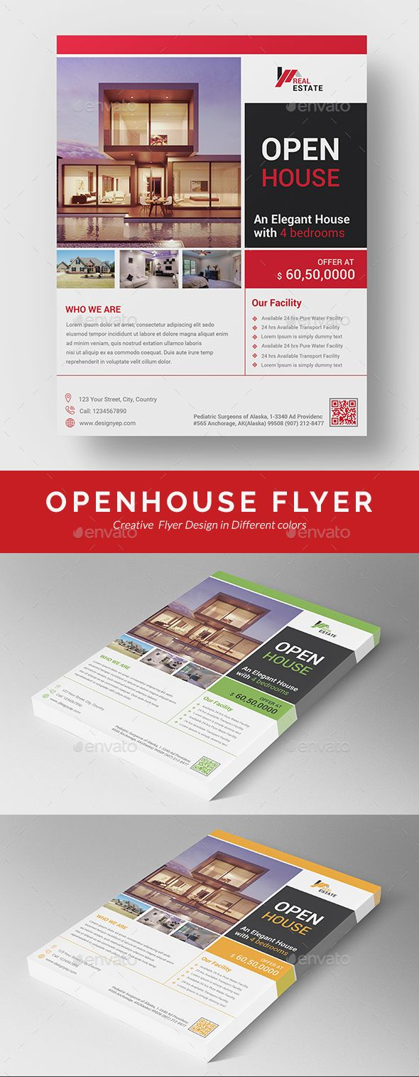 Open House Flyer Template Psd Vector Eps Ai Illustrator  Flyer