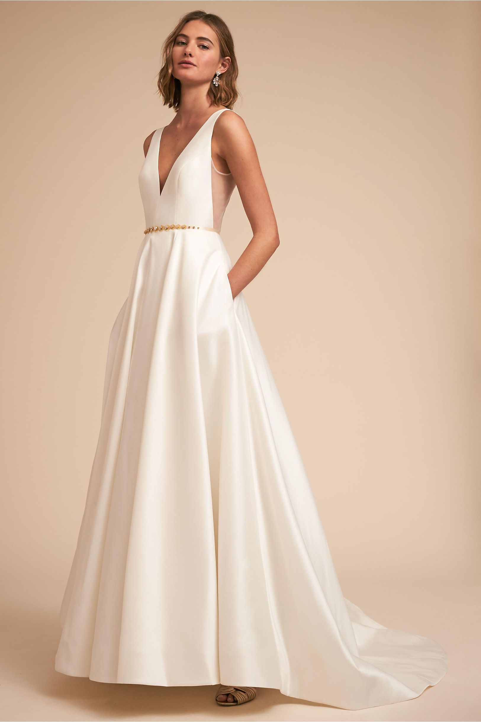 Lace button up wedding dress november 2018 BHLDN Octavia Gown Ivory in New  BHLDN  Weddings  Pinterest