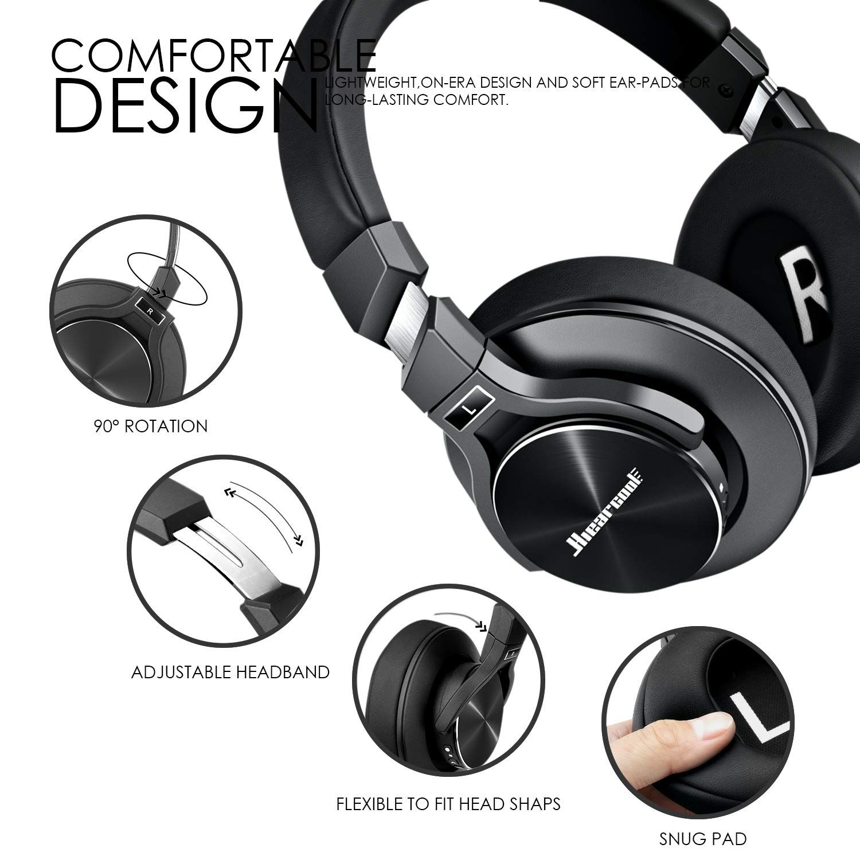 Active Noise Cancelling Headphones Hiearcool L2 Bluetooth Headphones With Microphone Hi Fi Noise Cancelling Headphones Wireless Headphones Bluetooth Headphones