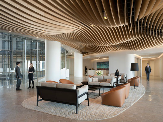 Cool Ceiling Lobby Design Ceiling Design Office Interiors