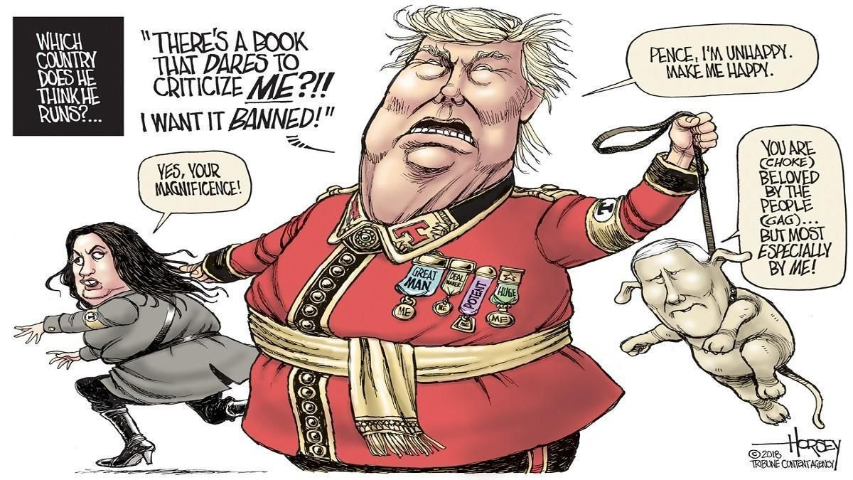 Image result for trump as dictator cartoons""