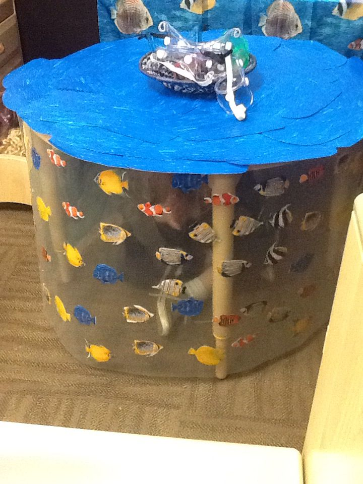 Classroom Enhancement Ideas ~ Preschool dramatic play aquarium table enhancement ocean