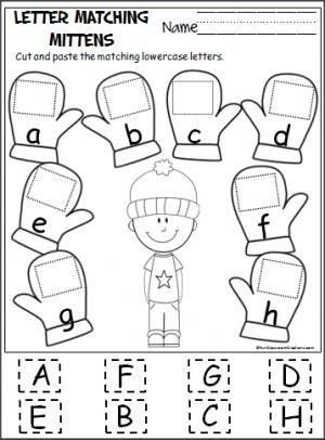 alphabet matching cut and paste worksheet - Google Search | school ...