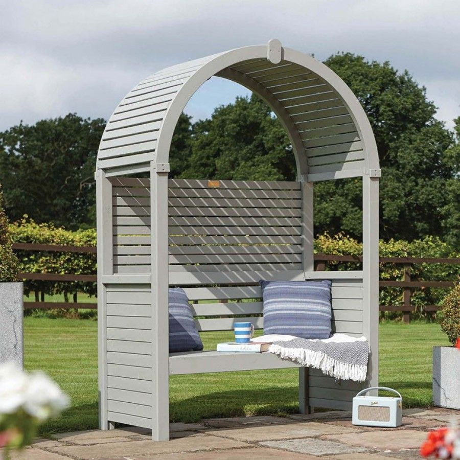 Garden Arbor Bench Timber Wood Dome Roof Patio Lawn Wooden 640 x 480