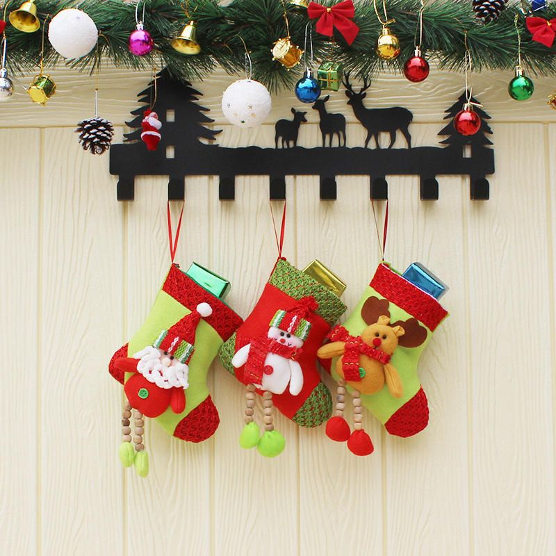 Christmas Candy Bag Stocking Santa Claus Sock Gift Bag Bauble Christmas Tree Ornaments Decor Supplie