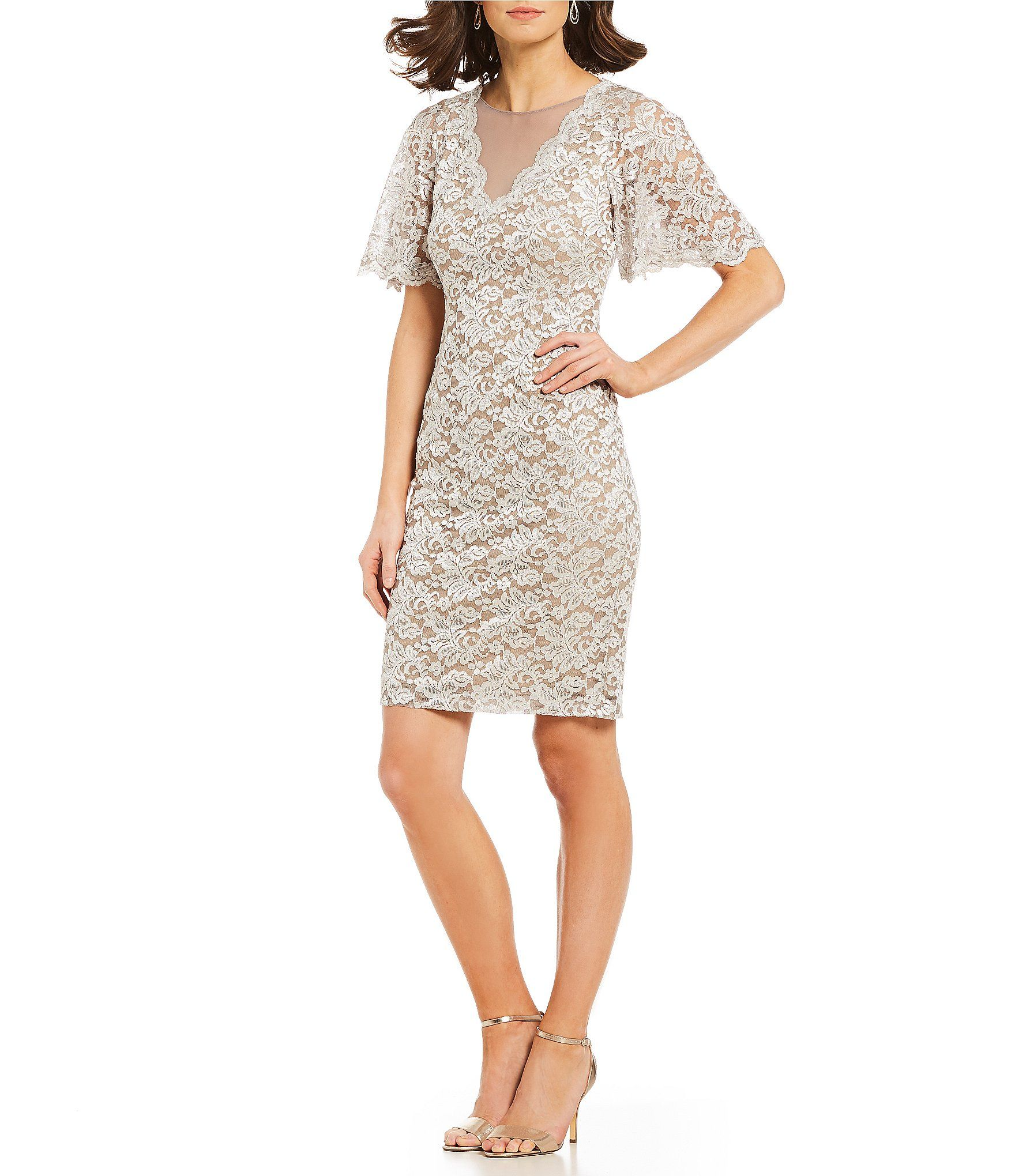 d69fd5b80ad5c3 Shop for Jessica Howard Butterfly Sleeve Lace Sheath Dress at Dillards.com.  Visit Dillards.com to find clothing, accessories, shoes, cosmetics & more.