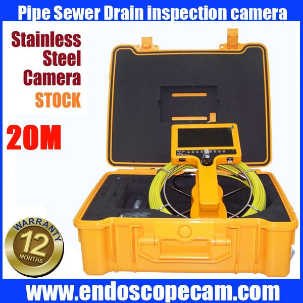 30m Hand Held Snake Underwater Sewer Drain Pipe Inspection Endoscope Camera With Ccd600tvl Camera Security Protection Drain Pipes Pipes Underwater