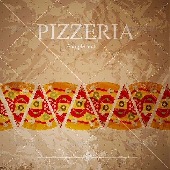 Pizza Menu Template Vector Illustration  Pizza Menu Menu