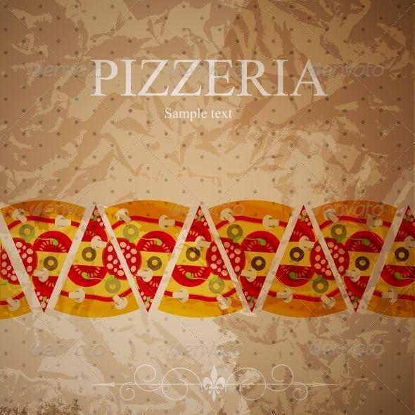 Pizza Menu Template Vector Illustration  Pizza Menu Menu