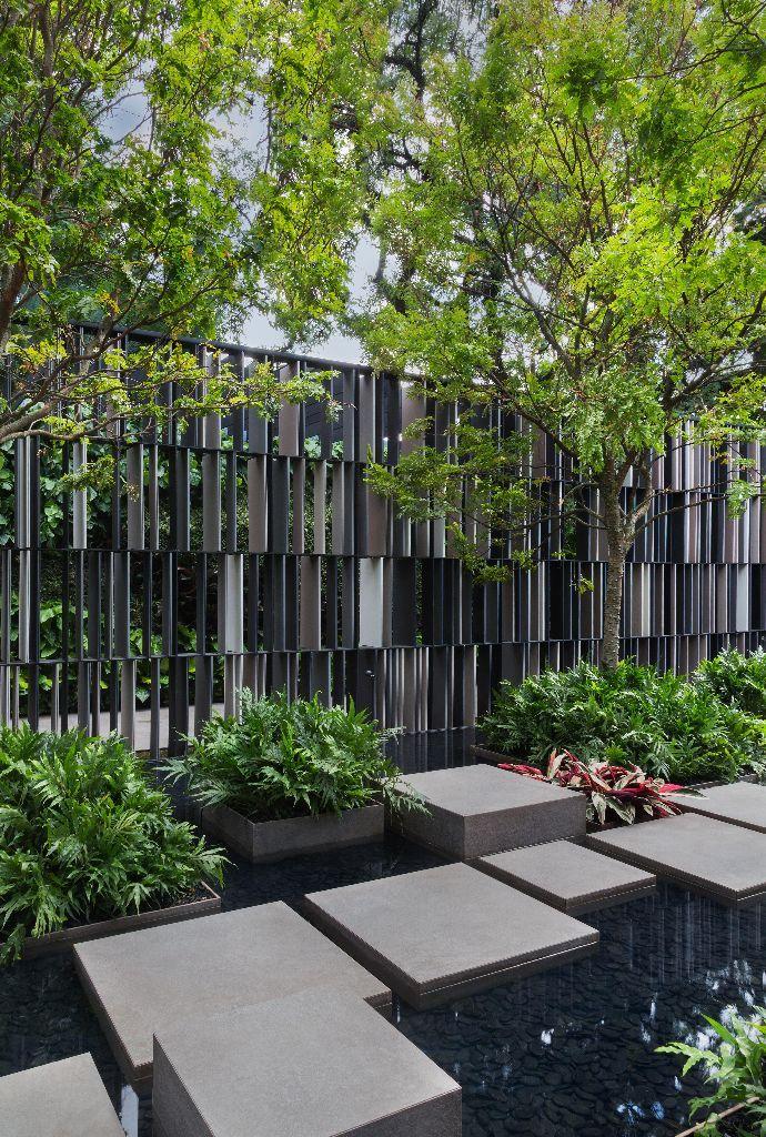 Steingarten, Stein, modern, Stein im Garten, Wasser, Gestaltung