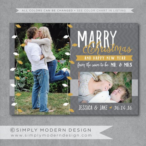 Christmas Save The Date Cards.Marry Little Christmas Save The Date Card Invitation