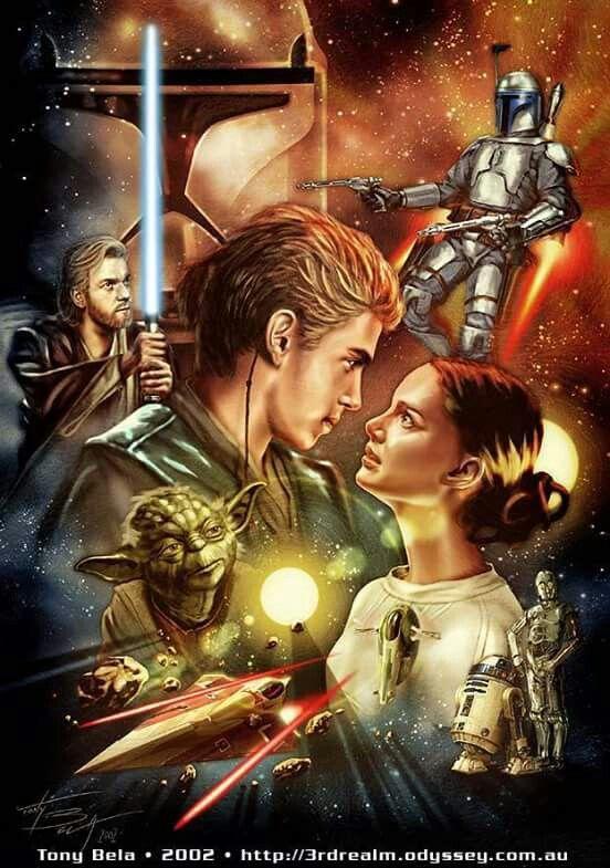 Aotc Art 2 Star Wars Illustration Star Wars Poster Star Wars Ii