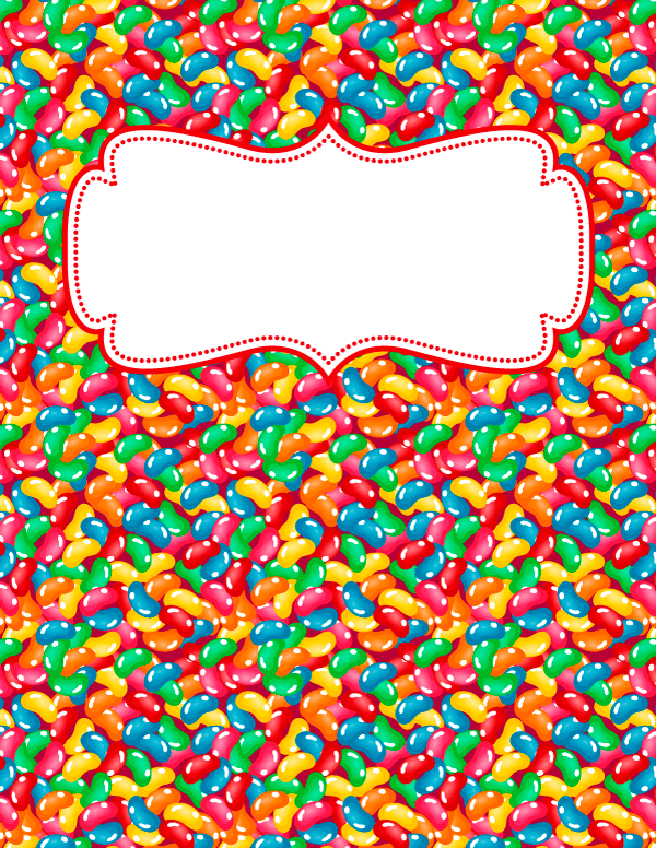 Free Printable Jelly Bean Binder Cover Template Download The Cover In Jpg Or Pdf Format At Http Binder Covers Binder Covers Printable Binder Cover Templates