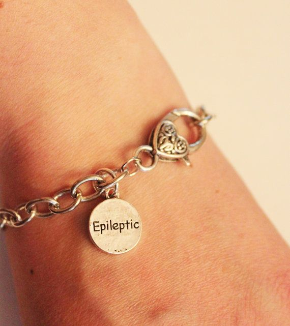 Epileptic Charm Bracelet Silver Medical Alert By