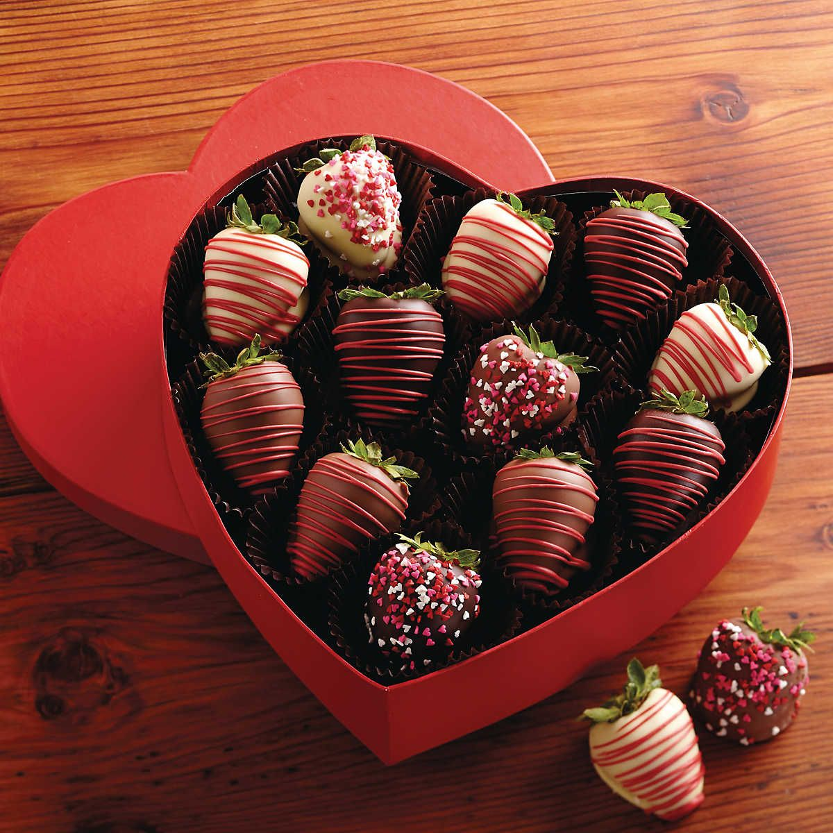 Valentine S Day Chocolate Covered Strawberries Gift Box Chocolate Covered Fruit Chocolate Covered Strawberries Chocolate Covered Strawberries Bouquet