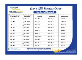 math worksheet : this year 6 sats maths practice sheet focuses specifically on  : Year 6 Maths Worksheets Printable