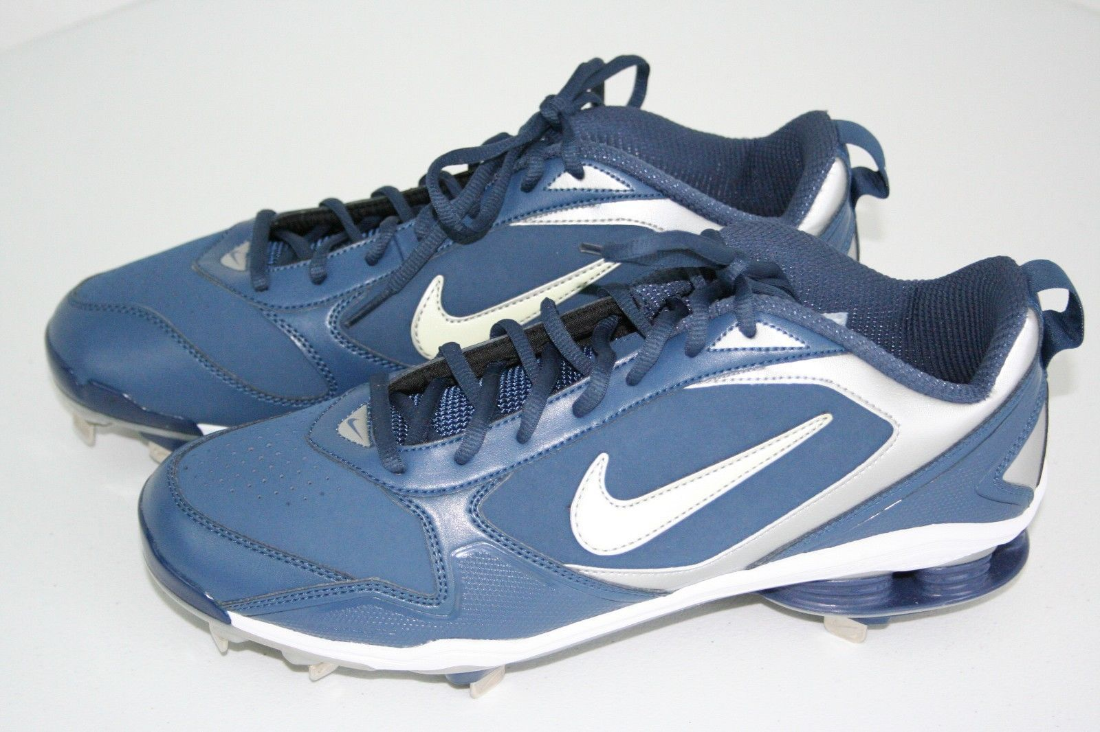 the latest 64243 e6da9 Nike Air ZOOM SHOX FUSE METAL BASEBALL CLEATS NEW 317029 Blue 11.5 Men