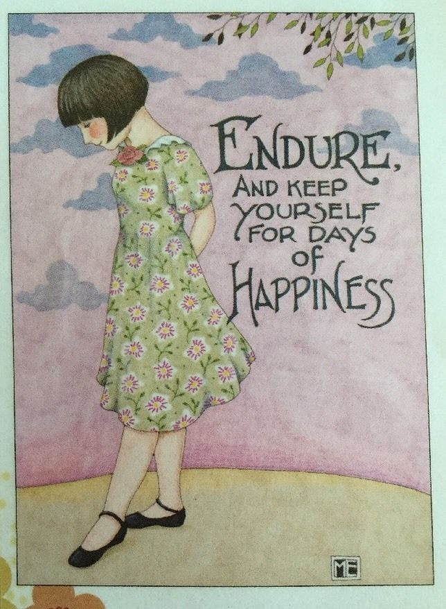 Endure and Keep Yourself for Days of Happiness Mary Engelbreit Magnet | eBay