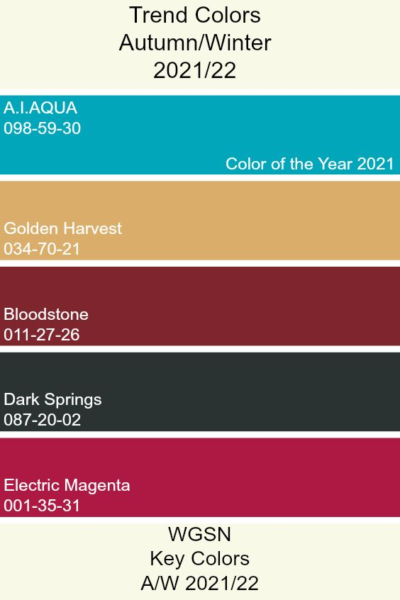 wgsn coloro key colours a w 21 22 in 2020 color on paint color trends 2021 id=55017