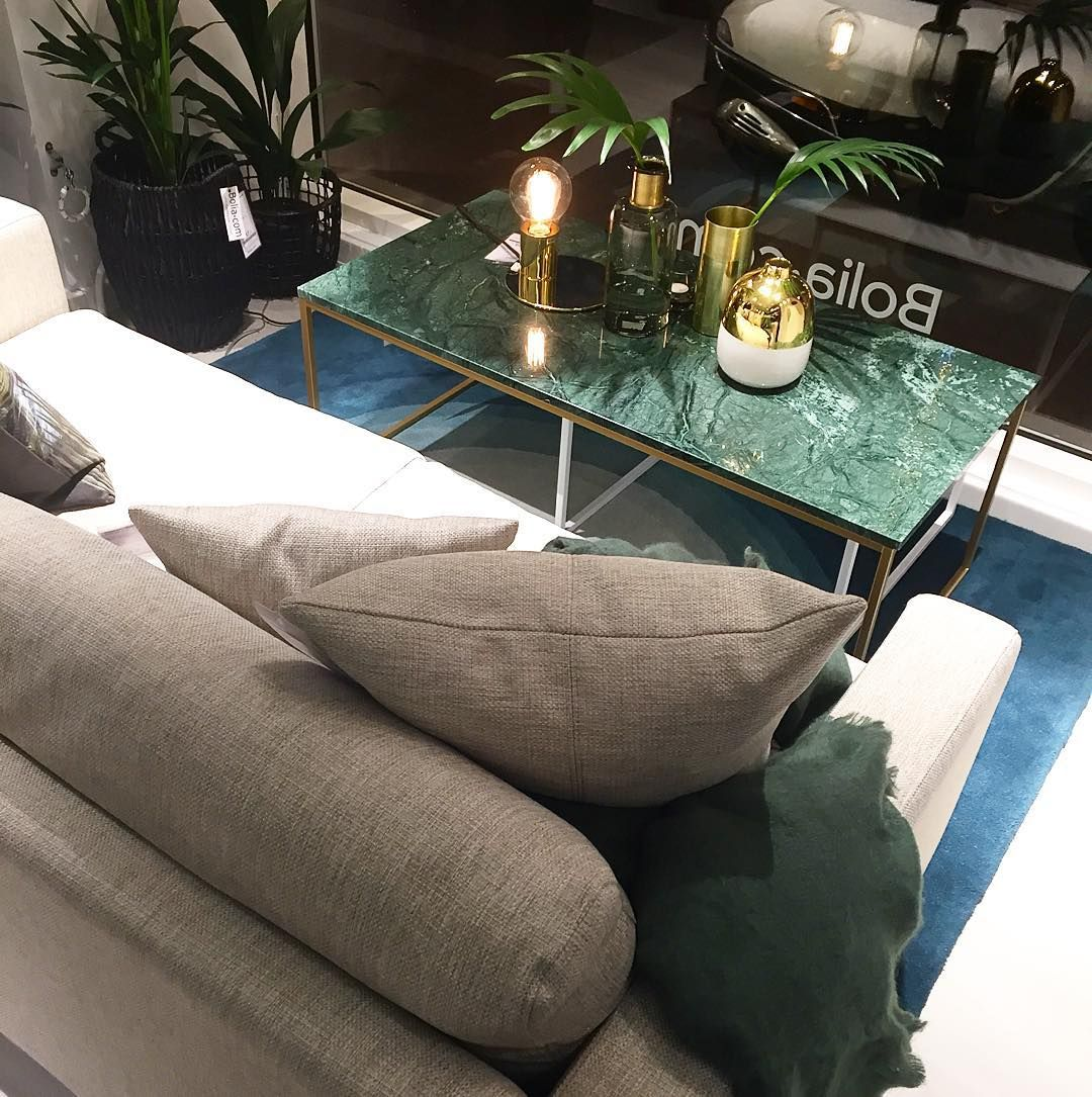 Blogger Interior Design C More On Instagram Love This Light Grey Sofa And Green Marble Table Marble Tables Living Room Marble Tables Design Light Gray Sofas [ 1085 x 1080 Pixel ]