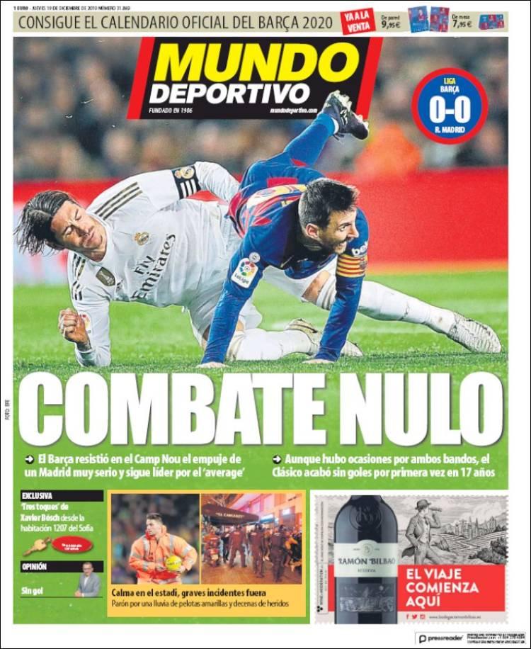 20191219 Periódico El Mundo Deportivo (España
