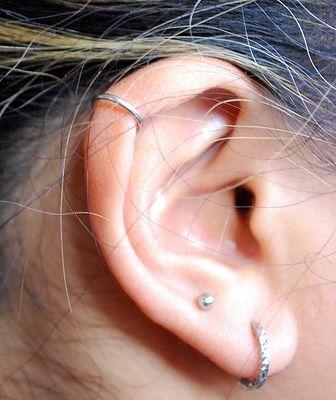 Piercing ring gold ohr