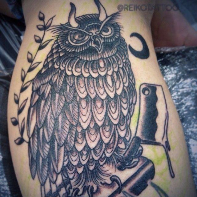 #inprogress #owl #tattoo #reikotattoo