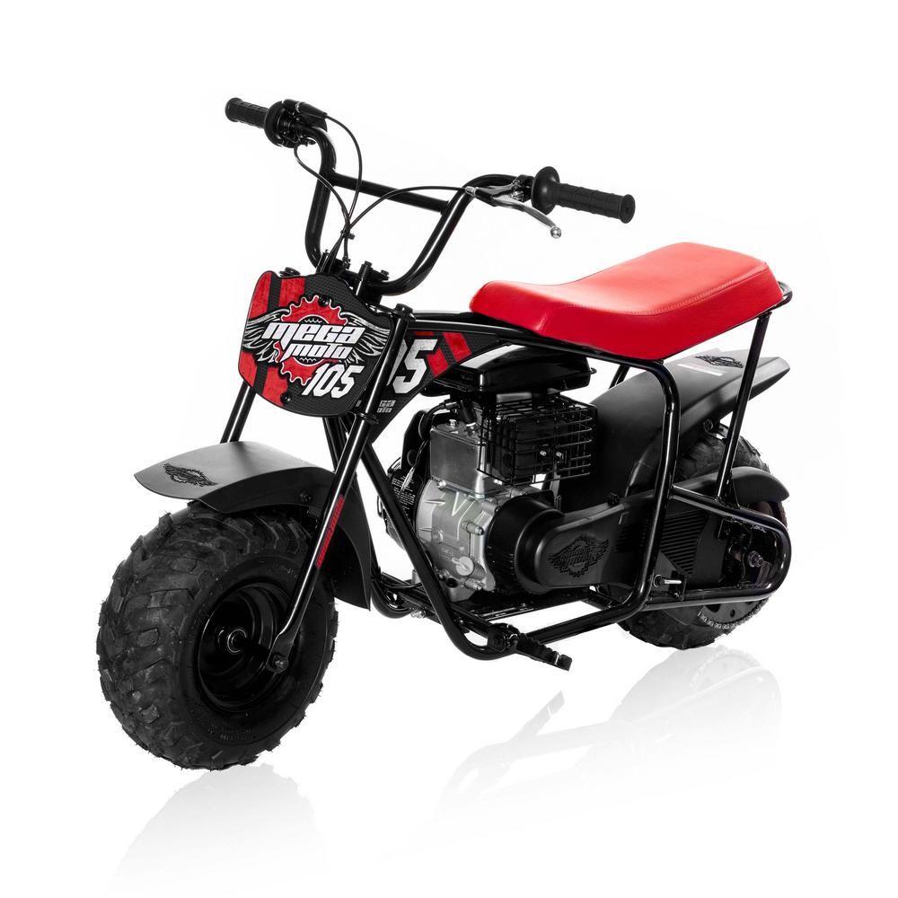 Mega Moto Classic Red And Black 105cc Gas Mini Bike Mm B105 Rb