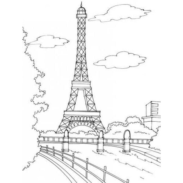 Coloriage Pays Et Regions Tourisme A Paris A Colorier Allofamille Coloring Pages Eiffel Tower Coloring Pictures