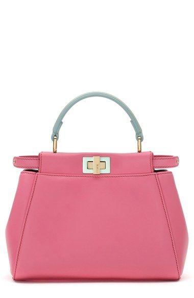 9010cbeb54 Fendi 'Mini Peekaboo' Colorblock Leather Bag available at #Nordstrom ...