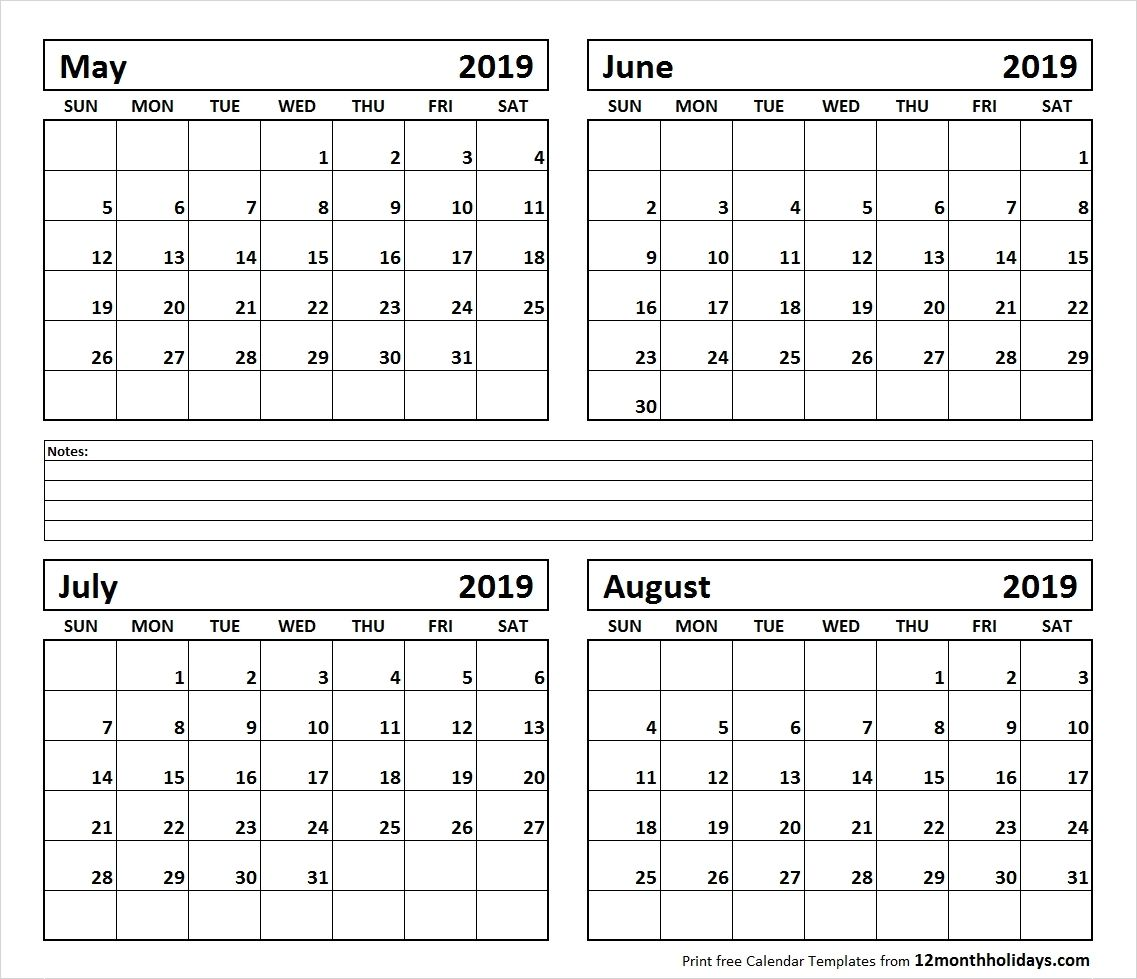 June July August 2019 Calendar Printable.Calendar June August 2019 Template Calendar Printable Monthly