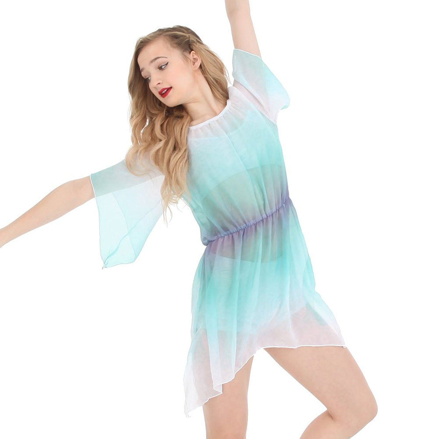 20fbd4deee1d Amazon.com: Alexandra Collection Womens Lace Watercolor Lyrical Dance  Costume Overdress: Clothing