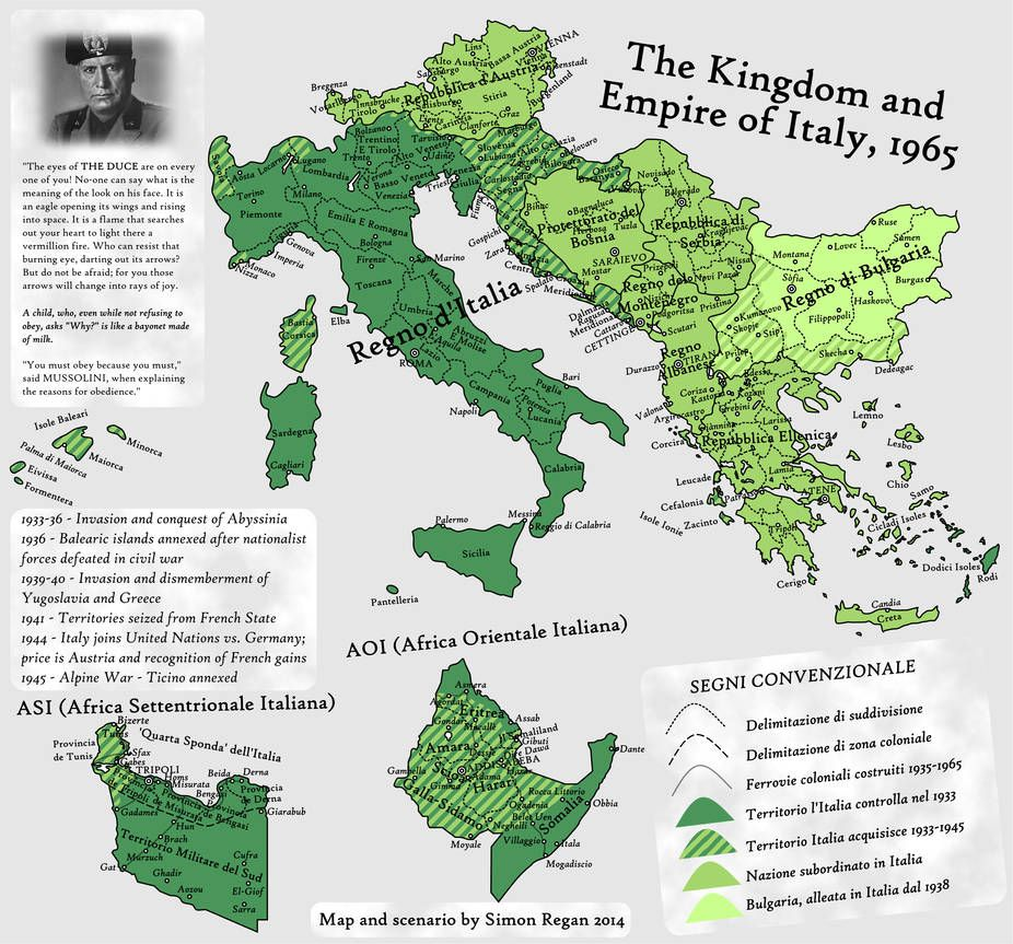 You Must Obey Because You Must An Ah Map By Sregan Map Italy Map Italy History