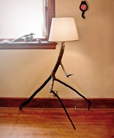 Make Your Own Tree Branch Floor Lamp Tree Lamp Diy Floor Lamp
