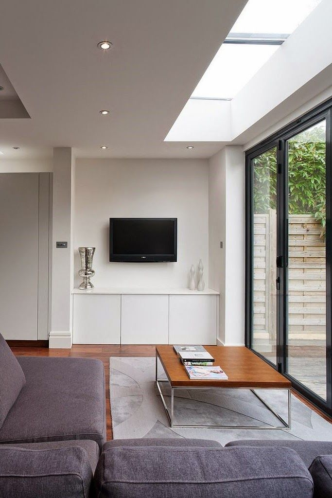Extension Minimalist Living Room Open Plan Kitchen Living Room Modern Room
