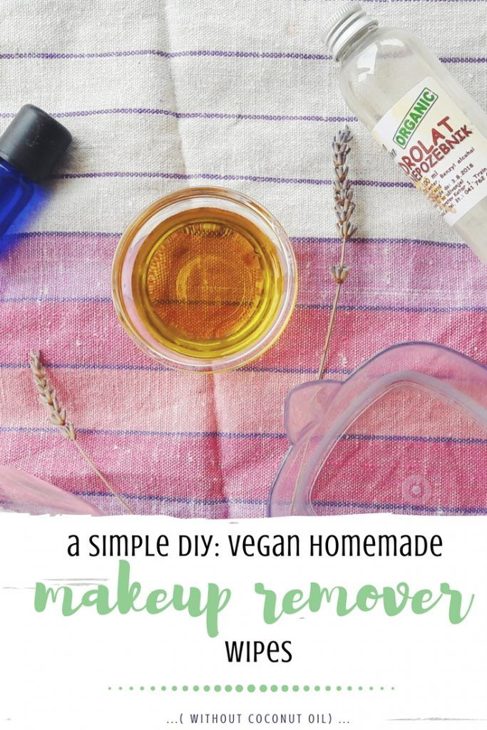 A simple DIY vegan homemade makeup remover wipes (no