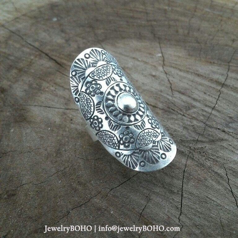BOHO, Gypsy ring, Hippie ring, Bohemian style, Statement ring R026 JewelryBOHO-Handmade sterling silver BOHO Tribal ring by jewelryboho4u on Etsy https://www.etsy.com/listing/223201342/boho-gypsy-ring-hippie-ring-bohemian