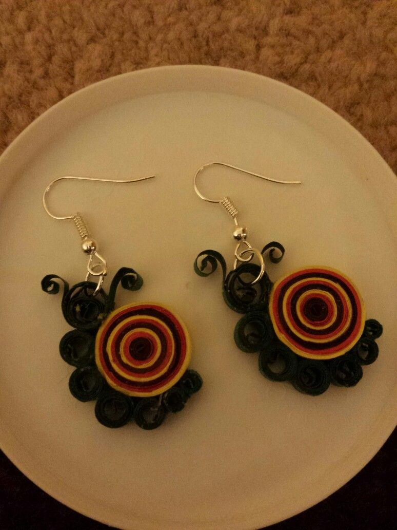 Snail quilled earings