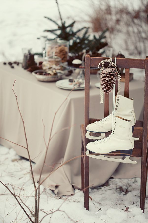 pinecones + ice skates hello winter well styled Pinterest - Decor Ideas For Home