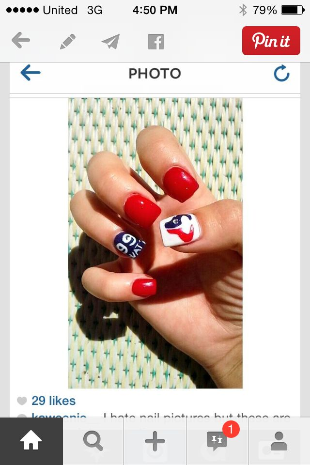 Houston texans nails | Houston Texans Fan | Pinterest | Houston ...