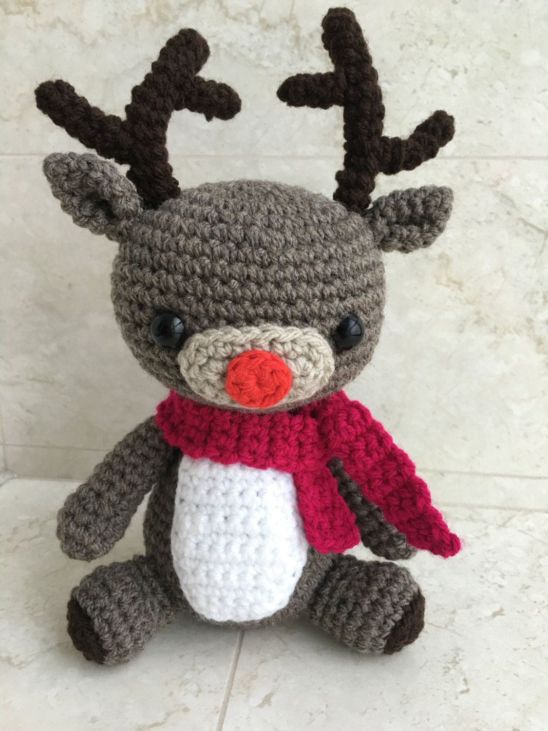 LUXE COLLECTION: 100% Cotton Amigurumi Rudolph Reindeer | Etsy ... | 1500x1125