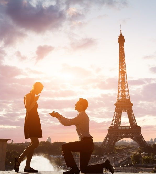 18 Romantic And Unique Wedding Proposal Ideas For Every: #Romantic #marriage Proposal At #EiffelTower , #Paris