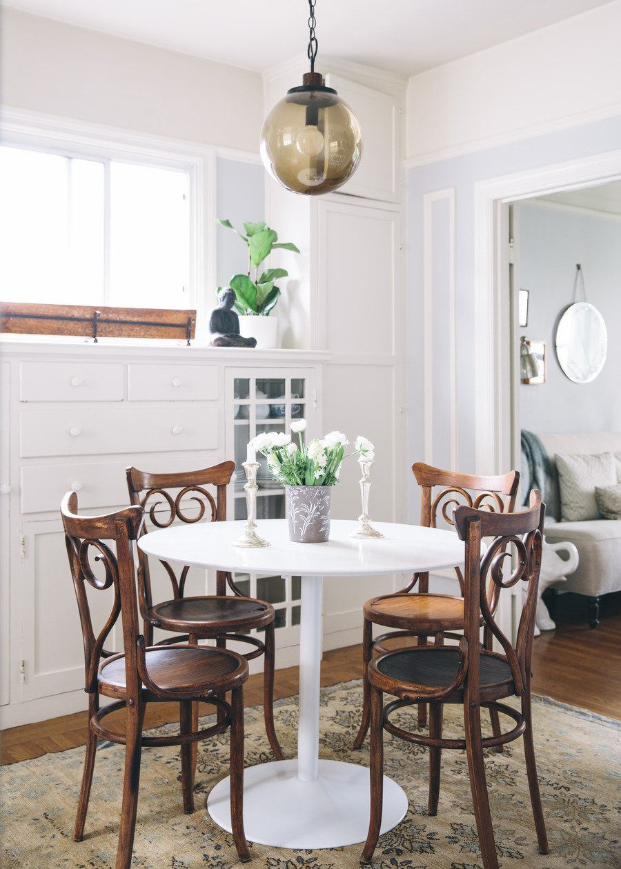 Decorating a small space dining chairs pendant lighting and lights