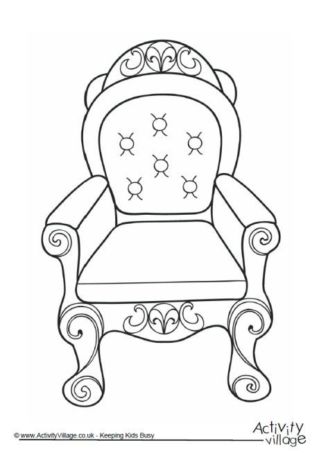 throne colouring page 2 - Family Coloring Pages 2