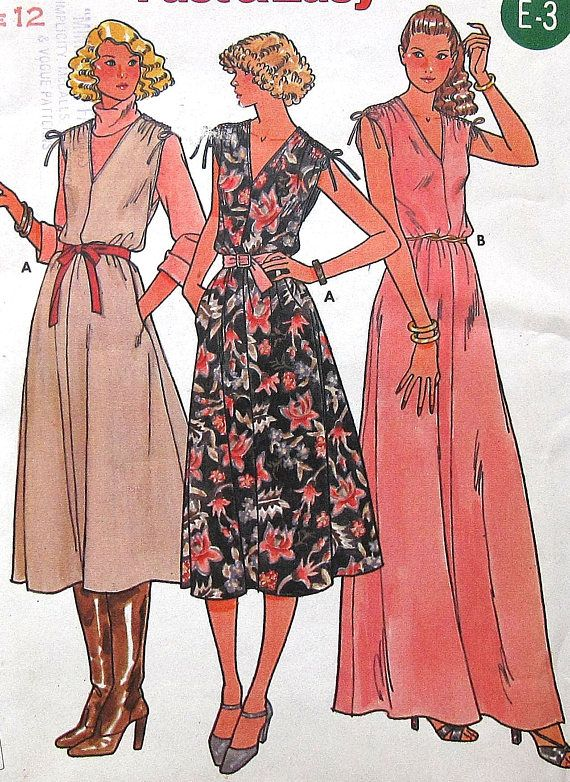 Vintage Jumper and Dress Sewing Pattern UNCUT Butterick 6296