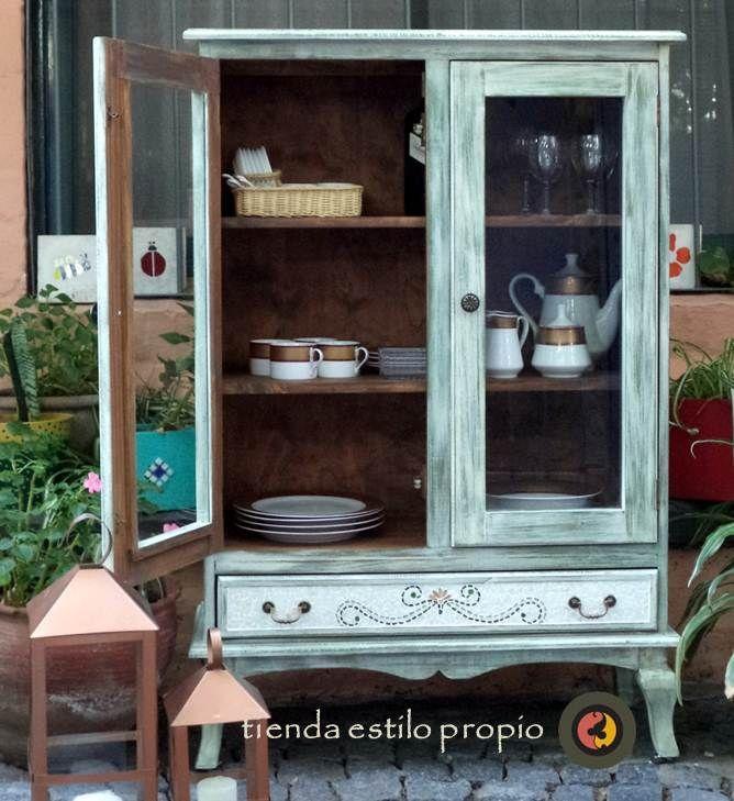 Vajillero vintage buscar con google ideas para el - Muebles reciclados vintage ...