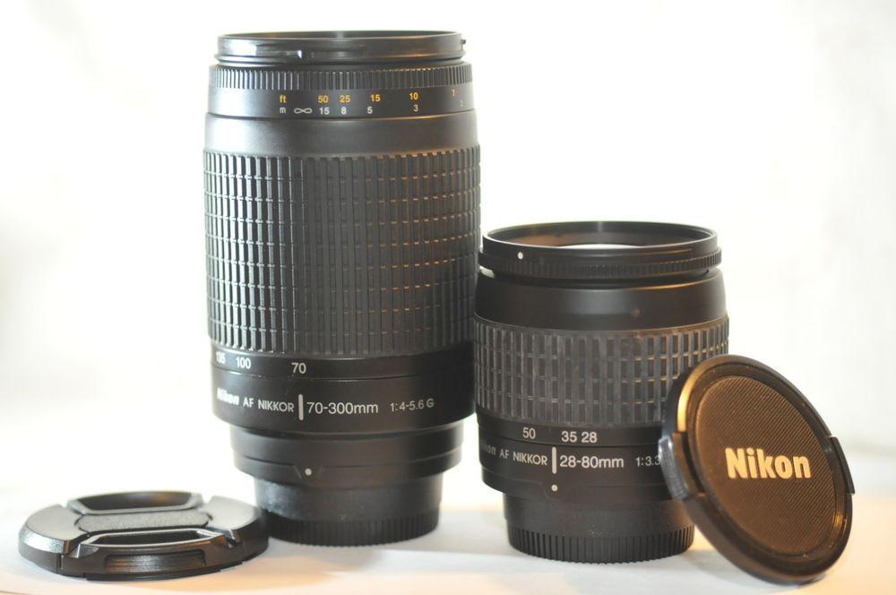 Nikon Af G Nikkor 28 80mm 70 300mm 2 Fx Lens Set For D7100 D80 D70 D80 Df D610 Nikon D80 Nikon D7100 Lens