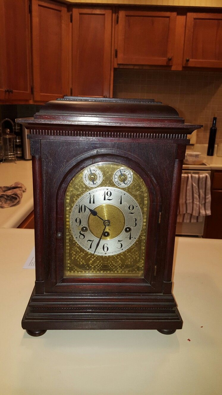 Arts and crafts mantle clock - Junghans Mantle Clock