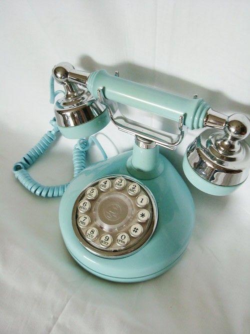 Vintage Teal Princess Phone Altmodische Hauser Vintage Telefon