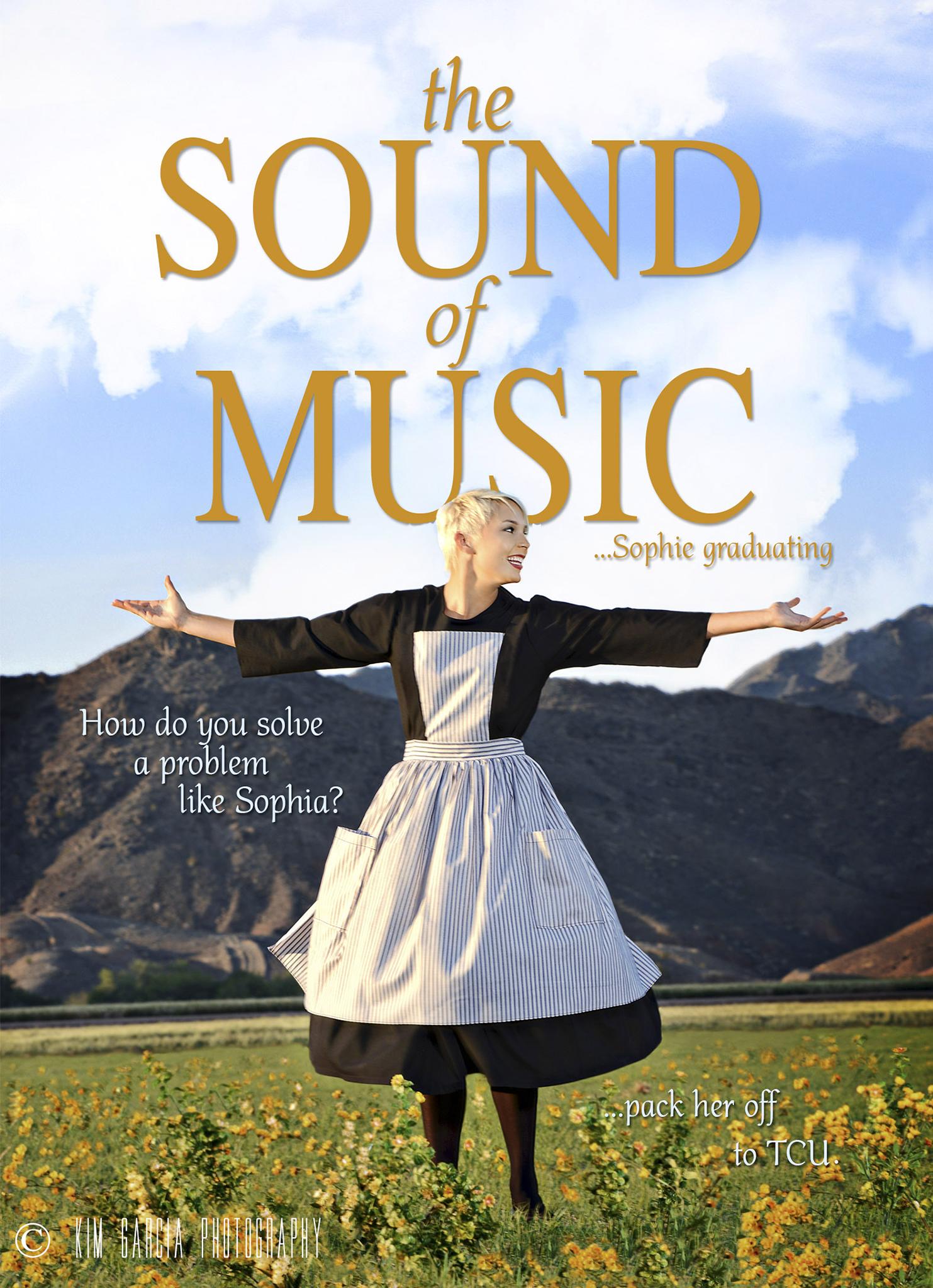 """Sound of Music"" movie poster inspired high school senior"